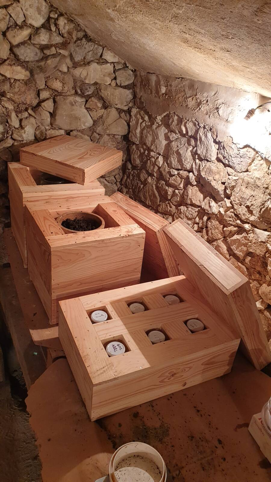 storage cellar for biodynamic preparations